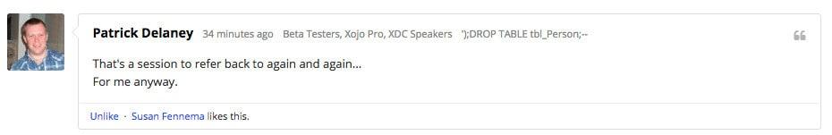Xojo Forum Comment 7