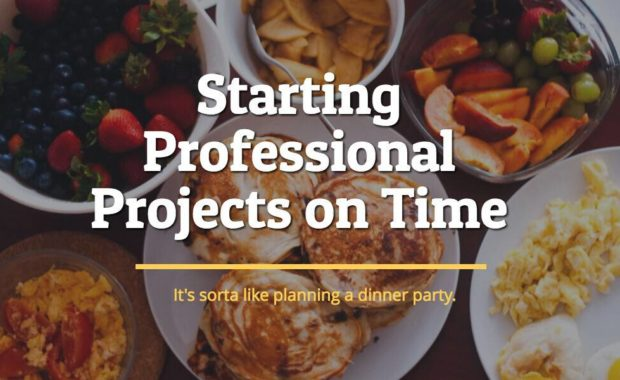 starting projects on time